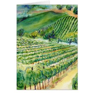 Carte de vignoble de la Californie