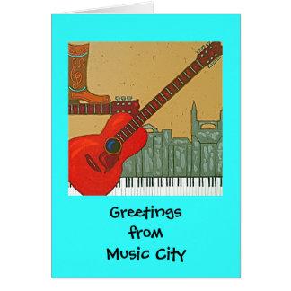 Carte de ville de musique