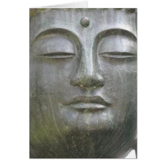 Carte de visage de Bouddha