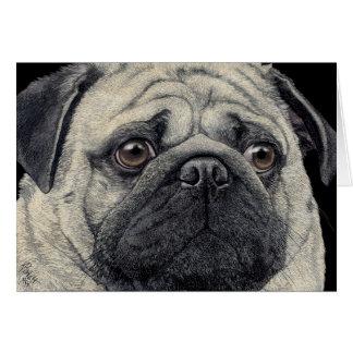 "Carte de visage de carlin - ""Pugshot """