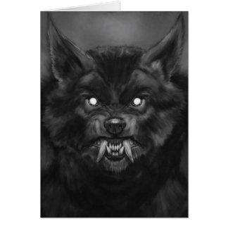 Carte de visage de loup-garou