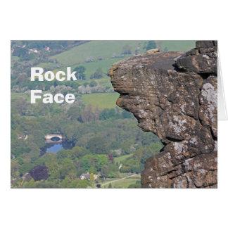 Carte de visage de roche