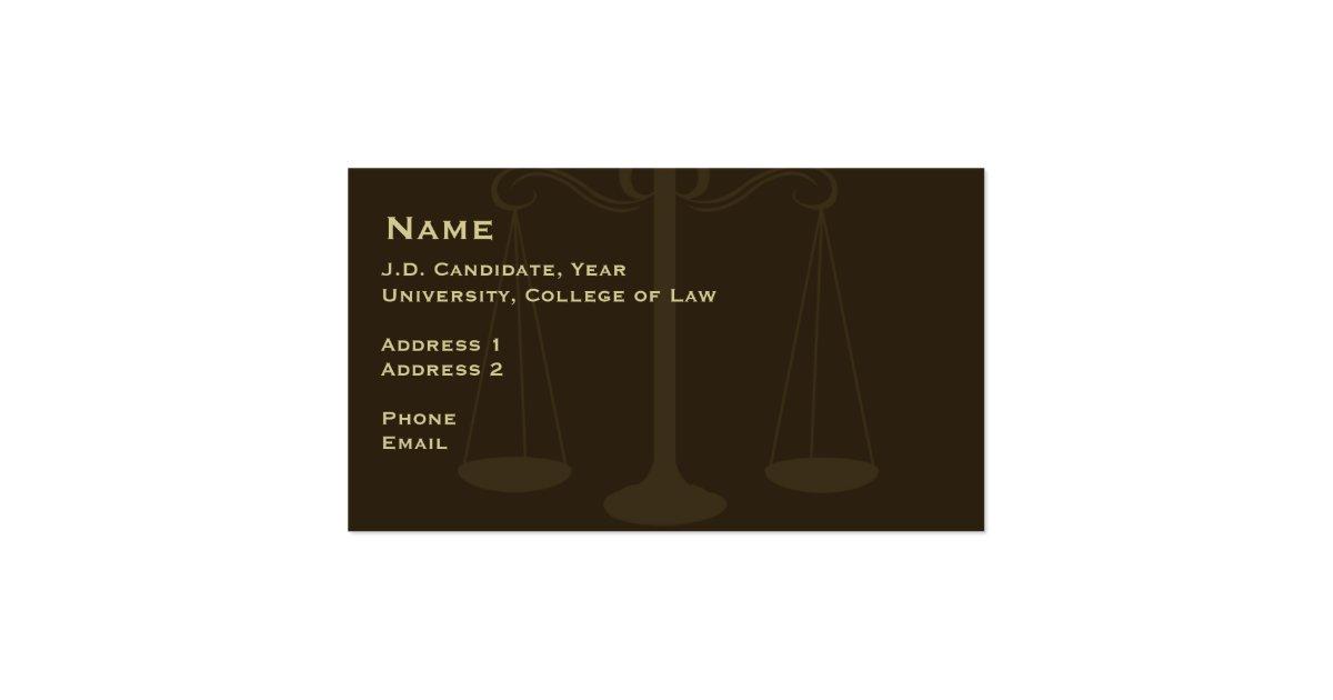 carte de visite etudiant en droit