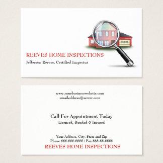 Carte de visite à la maison d'inspecteur