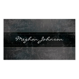 Carte de visite à la mode noir de marbre grunge