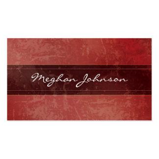 Carte de visite à la mode rouge de marbre grunge