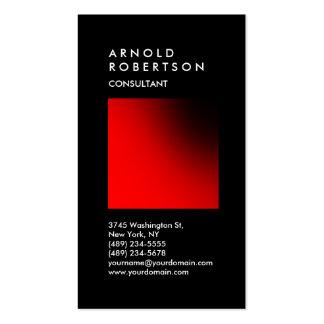 Carte de visite à la mode rouge noir vertical de
