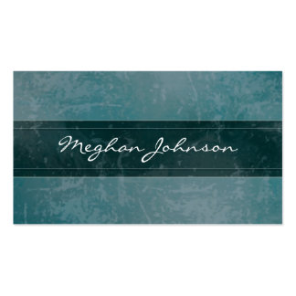 Carte de visite à la mode turquoise de marbre