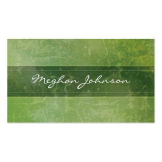 Carte de visite à la mode vert de marbre grunge