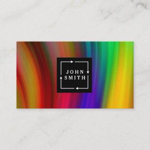 Carte De Visite Abrege Sur Multicolore Moderne Cool Daquarelles