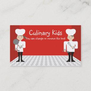 Carte De Visite Affaires Mignonnes Ca Cours Cuisine Chefs