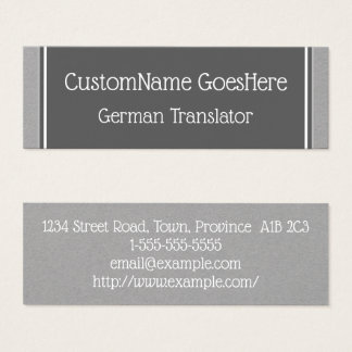 Carte de visite allemand de base de traducteur