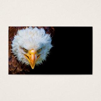Carte de visite américain fâché d'aigle chauve
