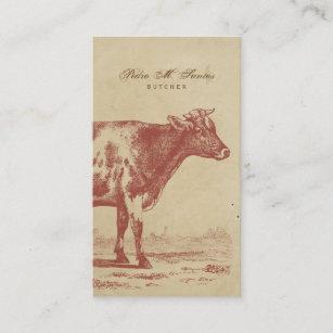 Carte De Visite Animal Frais Simple Vintage Vache Lait