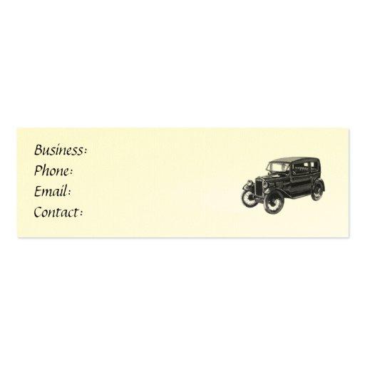 Carte de visite antique d'automobile/voiture