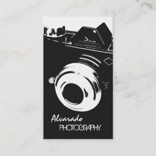 Carte De Visite Appareil Photo Blanc Noir Cratif Photographe