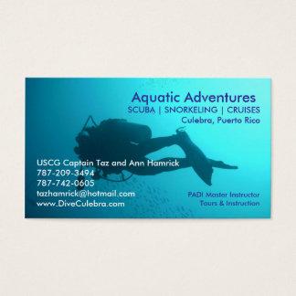 Carte de visite aquatique d'aventures