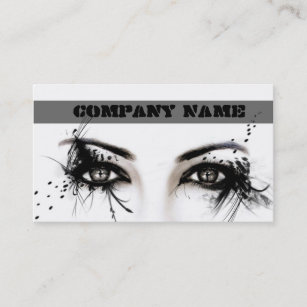 Carte De Visite Artiste Maquillage Professionnel Visage Modele