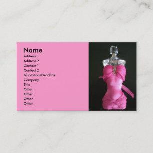 Carte De Visite Assez Dans La Bouteille Parfum Rose Robe
