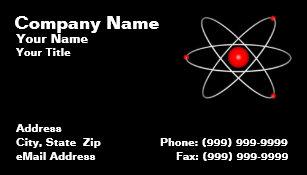 Carte De Visite Atome Rouge Sur Un Fond Noir