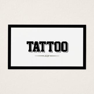 Carte de visite audacieux moderne de tatouage de
