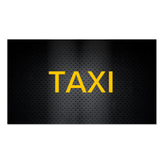 Carte de visite audacieux professionnel de taxi
