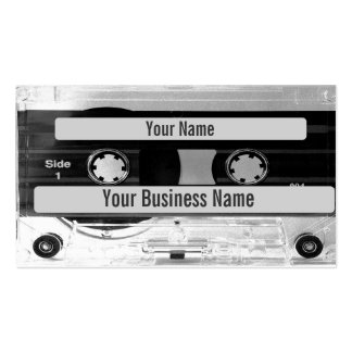 Carte de visite audio d enregistreur à cassettes