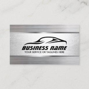 Carte De Visite Automobile Detaillant La Texture Moderne En Metal