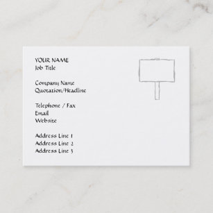 Carte De Visite Avis Poteau Indicateur Gris Et Blanc