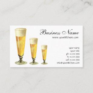 Carte De Visite Biere Pression Givree Grande Vintage Boisson