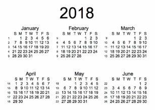 Carte De Visite Blanc 2018 Calendrier 52 Semaines Par Des