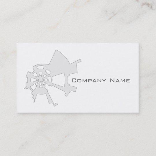 Carte De Visite Blanc Abstrait Industriel Conception