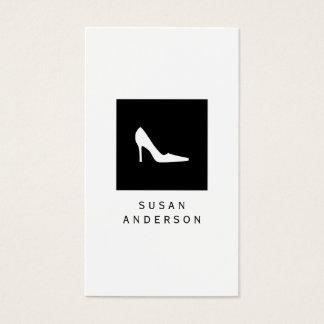 Carte de visite blanc de logo de chaussure de