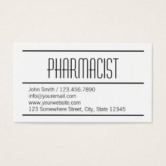 Carte de visite blanc simple moderne de pharmacien