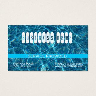 Carte de visite bleu clair de piscine