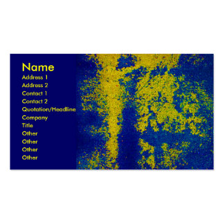 Carte de visite bleu de concepteur d or