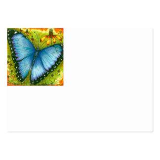 Carte de visite bleu de papillon de Morpho