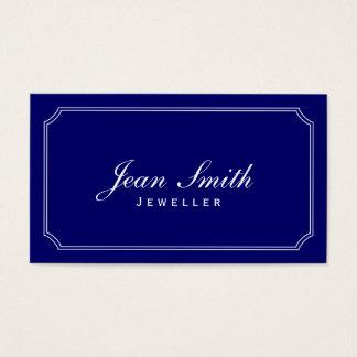 Carte de visite bleu-foncé de bijoux de cadre