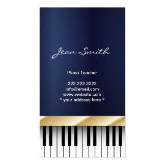 Carte de visite bleu-foncé de professeur de piano
