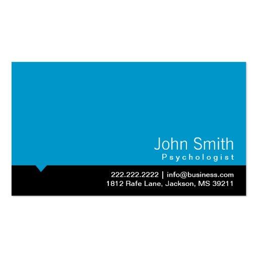 Carte de visite bleu moderne de psychologue
