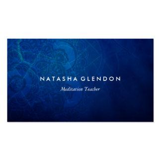 Carte de visite bleu profond de zen de mandala