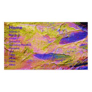 Carte de visite bleu rose jaune d'artiste d'écrase