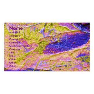 Carte de visite bleu rose jaune de l'artiste I d'é