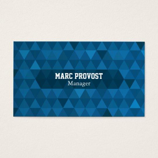 Carte de visite Blue Triangles