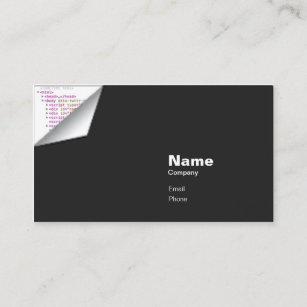 Carte De Visite Boucle HTML