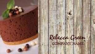 Carte De Visite Boulangerie Rustique Gteau Chocolat