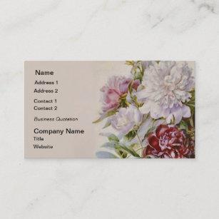 Carte De Visite Bouquet Des Pivoines Par Pierre Redoute