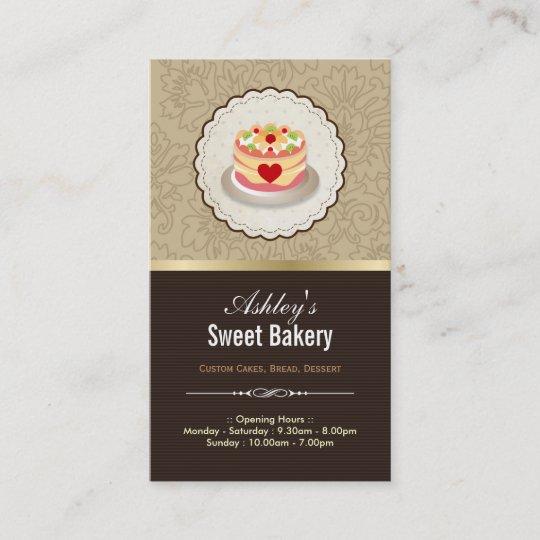 Carte De Visite Boutique Douce Boulangerie