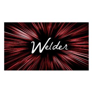 Carte de visite brillant rouge de soudeuse d'étoil