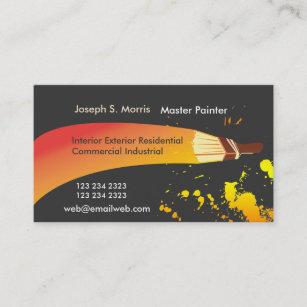 Carte De Visite Brosse Orange Peintre Chambre Couleur